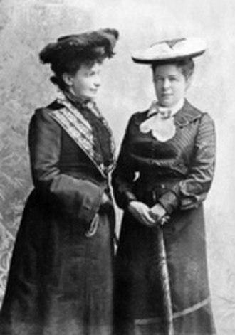 Sophie Elkan - Sophie Elkan (left) with Selma Lagerlöf, 1894.