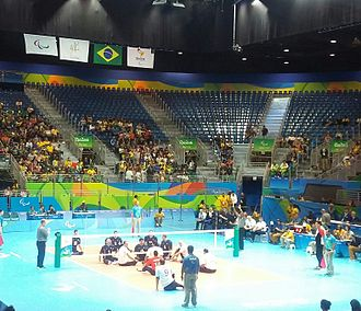 Volleyball at the 2016 Summer Paralympics - Detail from match Bosnia and Herzegovina vs Egypt