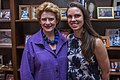 Senator Stabenow meets with a Michigan constituent. (19074106083).jpg