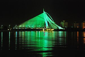 Seri Wawasan Bridge - Image: Seri Wawasan Bridge at Night