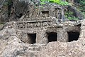 Series of Fire places at Undavalli Caves.jpg