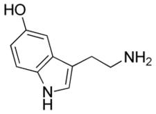 Chemický vzorec serotoninu
