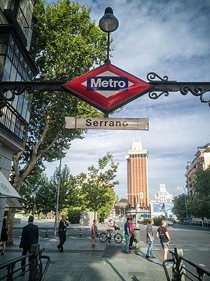 Serrano (Madrid Metro) - Image: Serrano (35475300454)