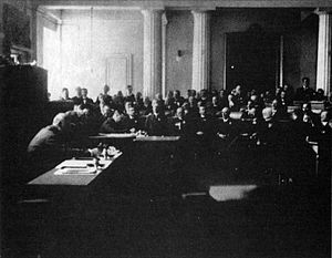 State of Slovenes, Croats and Serbs - Session of the Croatian parliament, the Sabor, on 29 October 1918.
