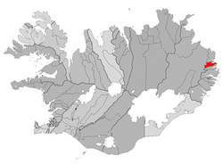 Location of the Municipality of Seyðisfjörður