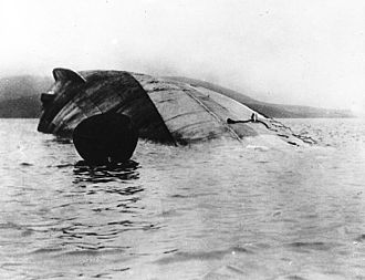 1919 in Scotland - Image: Seydlitz capsized