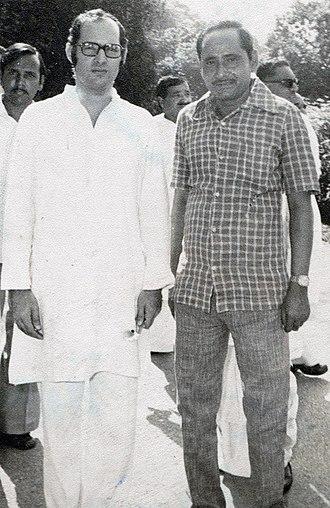 Sanjay Gandhi - Gandhi with Shaikh Shamim Ahmed