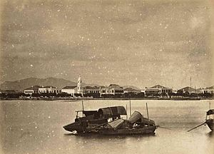 Shamian - Shamian Island in the 1870s by Lai Afong.