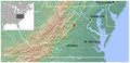 Shenandoah Salamander Plethodon shenandoah distribution map 3.png