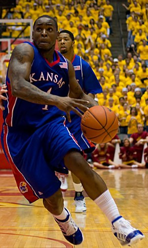 Sherron Collins - Sherron Collins playing for Kansas