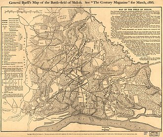Don Carlos Buell - After the war Buell drafted and published a map of the battlefield where the Battle of Shiloh occurred.