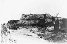 Ruined castle of Shirakawa-Komine, during the Battle of Aizu