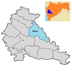 Shirur tehsil in Pune district.png