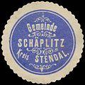 Siegelmarke Gemeinde Schäplitz Kreis Stendal W0382860.jpg