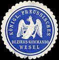 Siegelmarke Königlich Preussisches Bezirks - Kommando Wesel W0224004.jpg