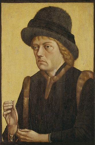 Sigismund, Archduke of Austria - Portrait by the Master of the Mornauer Portrait, circa 1470 (Alte Pinakothek, Munich)