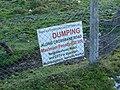 Sign, Crossbane - geograph.org.uk - 1634948.jpg