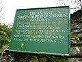 Sign at St. Runius Church Marown - geograph.org.uk - 1317907.jpg
