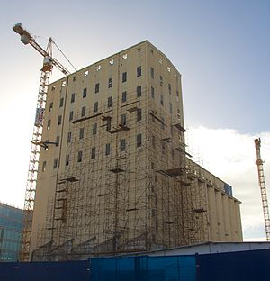 Zeitz Museum of Contemporary Art Africa - Zeitz MOCAA seen during the early stages of the Silo's conversion.
