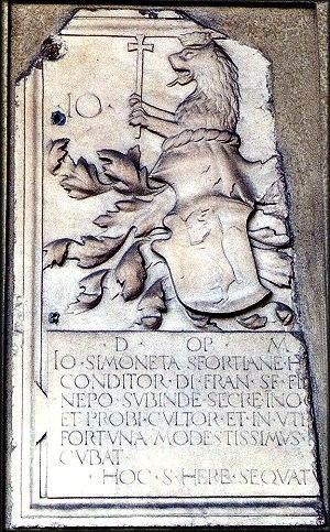 Cicco Simonetta - Simonetta Family Coat of Arms