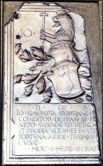 Cicco Simonetta - Simonetta Family Coat of Arms