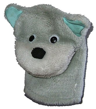 Hand puppet - A simple toy dog hand puppet.