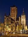 Sint-Niklaaskerk and the belfry of Ghent (DSCF0274).jpg