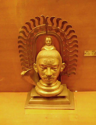 Shiva - A sculpture of siva with Moustache at Archaeological Museum GOA