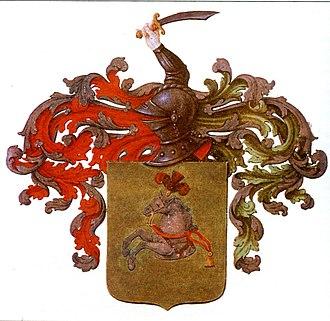 Helmet (heraldry) - Image: Skornyakov Coat of Arms