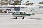 Skydive Oz (VH-SJE) Cessna U206F Stationair taxiing at Wagga Wagga Airport.jpg