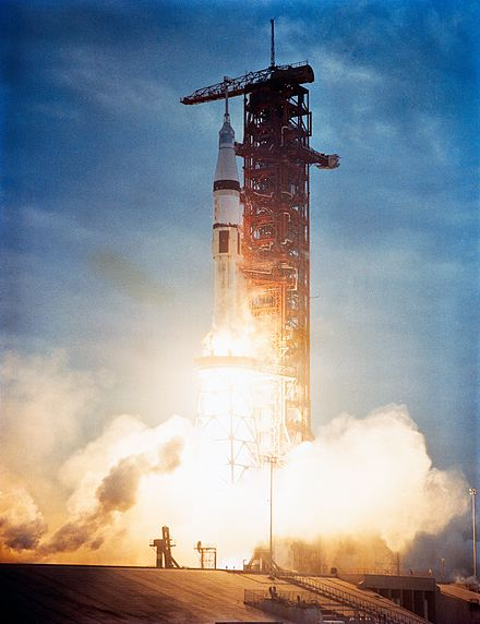 Skylab 3 heads into orbit aboard a Saturn IB Skylab 3 Launch (19293032373).jpg