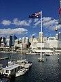 Skyline of Sydney CBD across Cockley Bay, Darling Harbour in 2016, 02.jpg