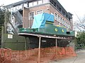 Small boat undergoing renovation at Chichester Canal Basin - geograph.org.uk - 758538.jpg