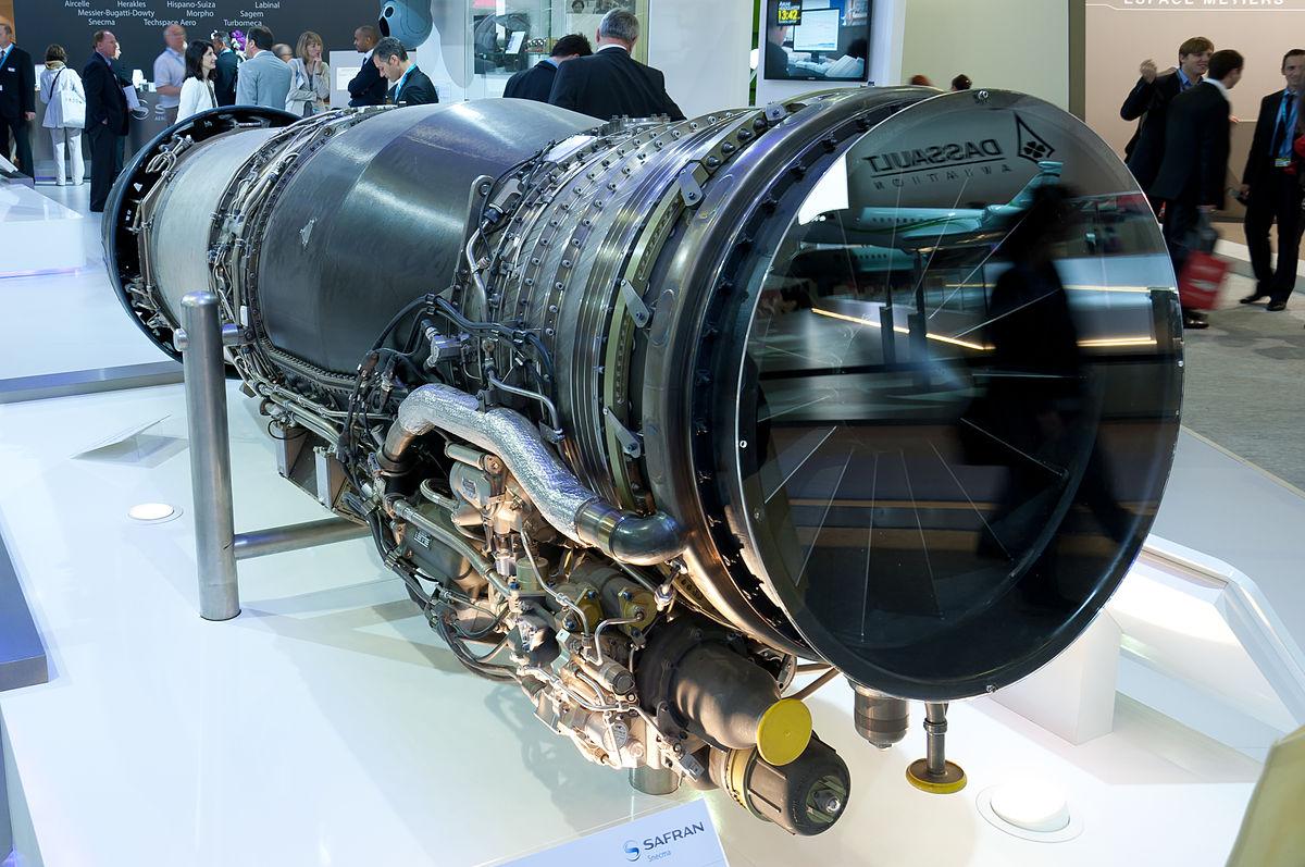 File:Snecma M88-4E afterburning turbofan engine for Dassault Rafale PAS 2013 02.jpg - Wikimedia Commons