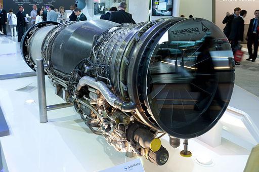 Snecma M88-4E afterburning turbofan engine for Dassault Rafale PAS 2013 02