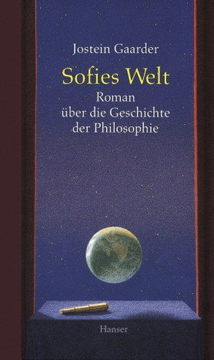 Sophie's World - Front cover of the 1993 German edition.