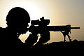 Soldier Scans the Afghan Horizon with a Sharpshooter Rifle MOD 45151721.jpg