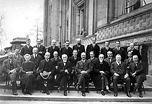 Solvay Conference - Image: Solvay conference, 1924