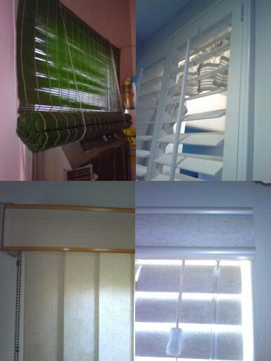 Some window blinds