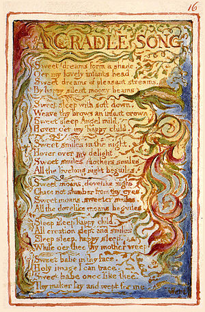 "A Cradle Song - Illustrated ""A Cradle Song"" in William Blake's Songs of Innocence"