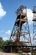The Headframe for shaft #8, still in active use today