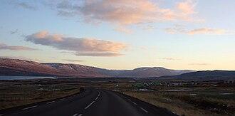 Eyjafjörður - Southeast across Eyjafjörður from the western exit of the Öxnadalsheiði pass