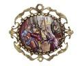 Spänne med emaljmåleri föreställande scen ur bibeln, 1700-tal - Hallwylska museet - 110379.tif