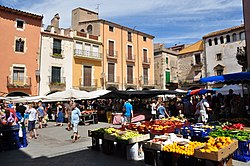Weekly market on the main square