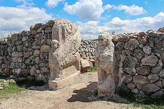 Hittites - Sphinx Gate entrance at Hattusa.