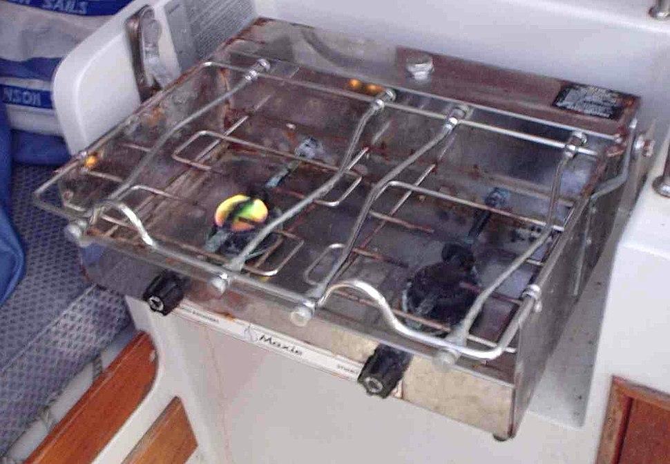 Spirit stove on yacht