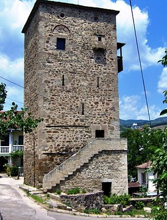 Kočani medieval towers - The medieval tower on the right bank of the Kočani river