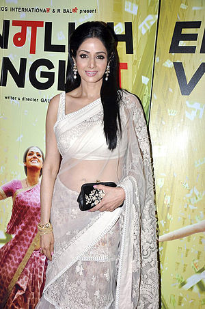 English Vinglish - Sridevi at the premiere of English Vinglish