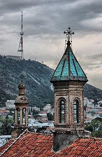 Church of Saint George (Kldisubani) church building in Tbilisi, Georgia