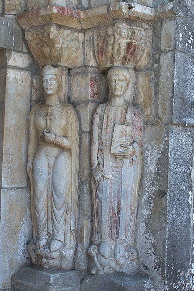 Nordportal, rechte Seite: St. Pastor und Kaiserin Helena, Saint-Just-de-Valcabrère